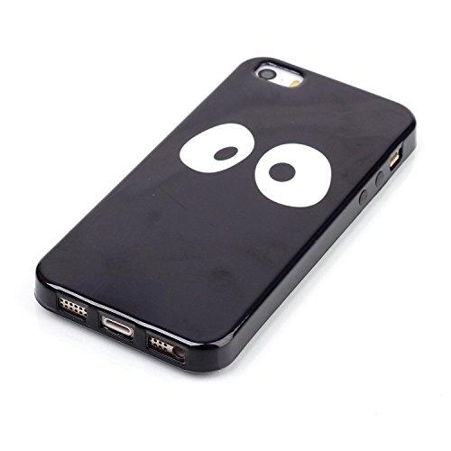 Voguecase® für Apple iPhone 5C, Schutzhülle / Case / Cover / Hülle / Ultra Slim Fit TPU Gel Skin (Kleine Gänseblümchen 05) + Gratis Universal Eingabestift Große Augen 01