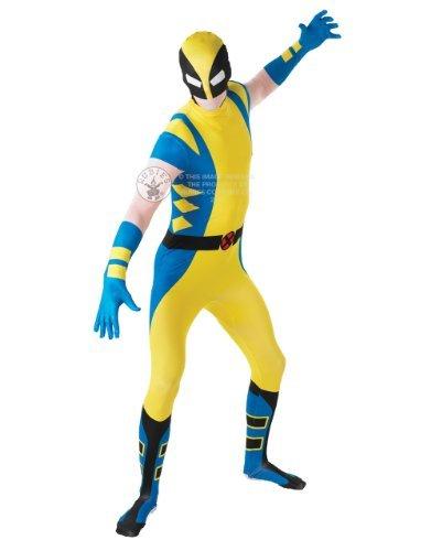 Wolverine Kostüm, Herren 2nd Skin Outfit, groß, GRÖßE 162,6 cm - 177,8 (Wolverine Alternative Kostüme)