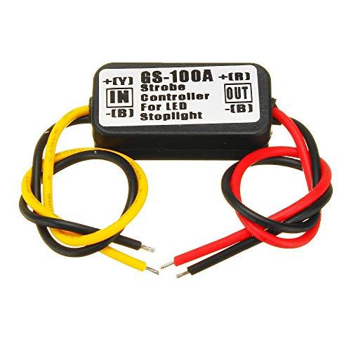 Quintion Child Accessori delle unità Modulo lampeggiatore Controller Flash stroboscopico Impermeabile 10pcs 12V for Lampada luci luci Stop Freno Auto LED