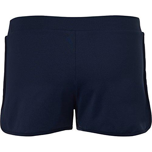 Sportkind Mädchen & Damen Tennis / Volleyball / Sport 2-in-1 Shorts mit Innenhose Navy Blau