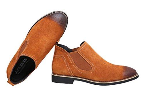 EOZY Chaussure Chelsea Homme En Suédé Chaussure De Ville Montante En Cuir Pu Anglais Casual Caf�