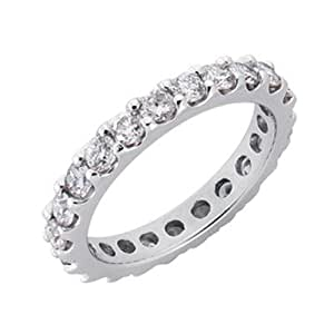 14ct 1.33 Dwt Diamond White Gold Eternity Band Ring