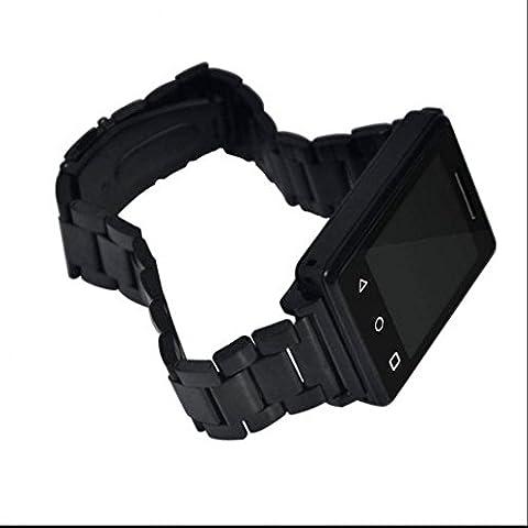 Fitness tracker Smart Watch, pression artérielle Mesurer, chronomètre montre de sport sans fil, compteur de calories, Remote Camera, CE qui le rend Plus Haut et plus de confort, noir