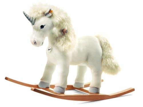 Steiff - 48913 - Peluche - Licorne à Bascule Starly - Blanc