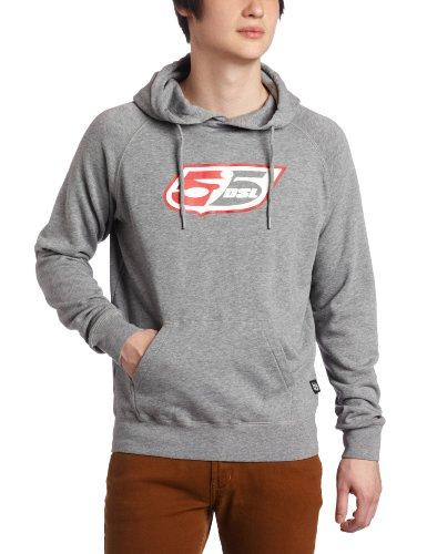 Preisvergleich Produktbild Diesel 55DSL Sweatshirt Flogo Hoodie - Grey Melange: Größe: M