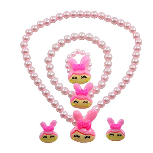 """Angel Glitter """" Life Is A Flower So Precious In Your Hand"""" Mother-Of-Pearl 3-Pcs Jewellery Set For Kids"""