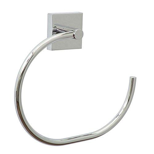 Sanifri 470010276 Quad Handtuchring, chrom, inkl. nie wieder bohren - Befestigungstechnik