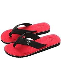 18ff989b5808e Moonuy Men's Summer Flip-Flops Slippers Beach Sandals Indoor&Outdoor Casual Shoes  Flip-Flops Indoor
