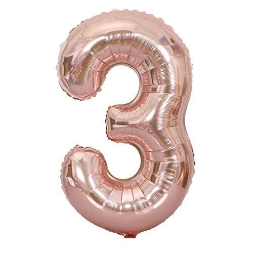 LoveOlvidoE 40 Pulgadas de tamaño Grande número Globos de Papel de Aluminio Boda Feliz cumpleaños decoración de la Fiesta Globo de Oro Rosa Suministros