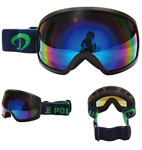 Aienid Radbrille Transparent Schwarz Blau Skibrille Winddichter Augenschutz Size:18X9CM