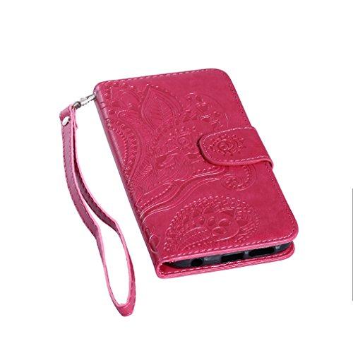 Samsung Galaxy S6Case Custodia, Samsung Galaxy G920, con protezione per lo schermo in vetro temperato] antigraffio, fatcatparadise (TM) Custodia posteriore in silicone morbido, elegante vintage Press Rose