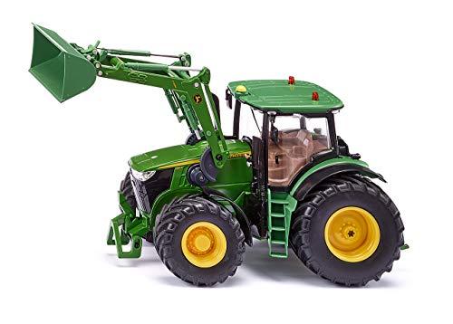 Siku 6792 John Deere 7310R mit Frontlader und Bluetooth App-Steuerung Traktor, Farbe kann von der Abbildung abweichen