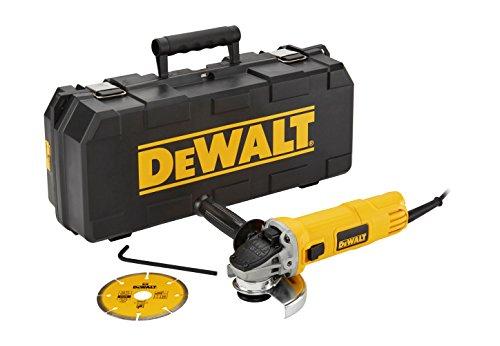 Dewalt DWE4156KD-QS Mini-Amoladora 115 mm 900W 11.800 RPM maletín Disco Diamante
