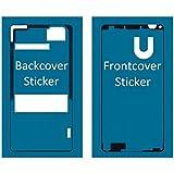Set de 2 etiquetas/folios adhesivos delantero y trasero resistentes al agua impermeables para Sony Xperia Z3 Compact Mini MMOBIEL.