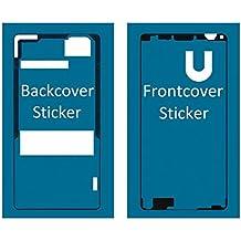 MMOBIEL Set de 2 etiquetas / folios adhesivos delantero y trasero para Sony Xperia Z3 Compakt Mini resistentes al agua impermeables Para la pantalla delantera y tapa trasera de la batería Z3 Compact M