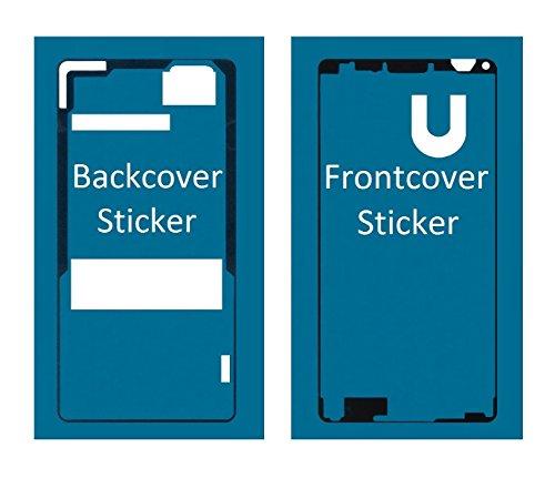 MMOBIEL Set Completo di Sticker Adesivi Sony Xperia Z3 Compact Mini Impermeabili con Colla Frontali e Posteriori per Schermo LCD Frontale/Coperchio Batteria Posteriore incl Tamponi per Pulizia