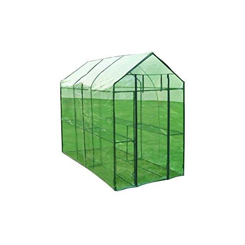 vidaXL Invernadero de acero XL Caseta de Tubo Jardin Terraza Cultivo de Plantas