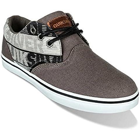 Quiksilver, Scarpe da Skateboard uomo Grigio grey/grey/black 36