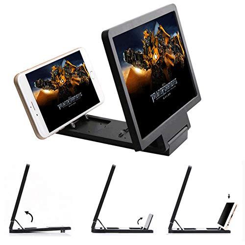 SINOTECHQIN Universal Lightweight 3D Film Bildschirm Vergrößern Vivid Magnifier Umweltfreundliche HD Projektor Ständer Halter für Telefon (Black)
