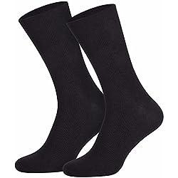 10pares de Calcetines de Algodón sin presión de goma para hombre y mujer, Hombre, color negro, tamaño 49