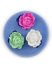 Auket Rose Fondant moule en silicone Sugarcraft savon de décoration de gâteau # 107 (3DMold-107)