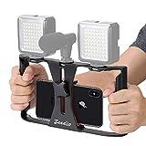 Zeadio Supporto video per telefoni, Stabilizzatore Impugnatura, Supporto di...