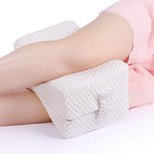 NURSAL Faltbares Kniekissen gegen Ischiasschmerzen, Rückenschmerzen, Beinschmerzen, Hüftschmerzen, bei Schwangerschaft und für Schlafende auf der Seite, Gedächtnis Schaumstoffkissen mit waschbarem Bez