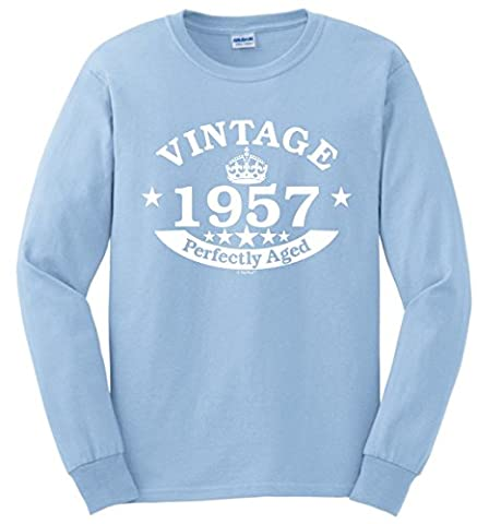 60th Birthday Gift Vintage 1957 Perfect Aged Crown Long Sleeve
