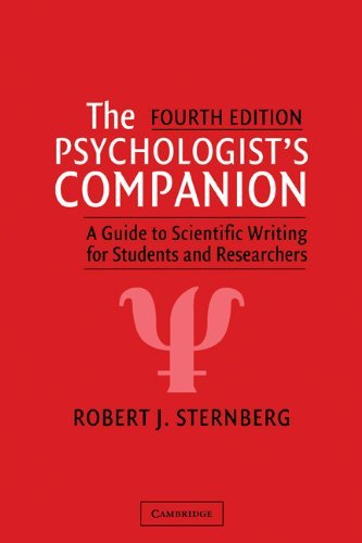 The Psychologist's Companion: A Guide to Scientific Writing for Students and Researchers (English Edition)