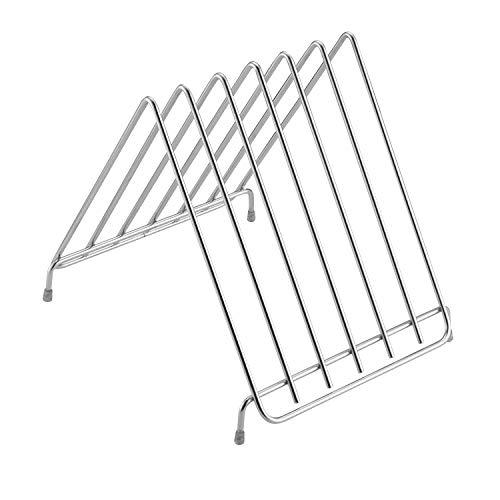 WVUSGDTT Küchen-Edelstahl-Schneidebrett-Gestell 6 Schicht-Speicher-Halter-Unterseite rutschfestes Design -