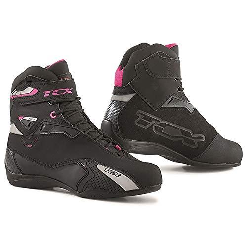 TCX Stivali Moto Rush Lady WP Nero/Fucsia, Nero/Fucsia, 38