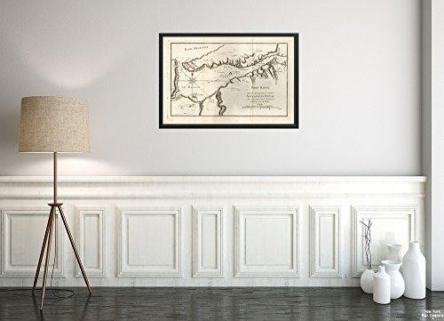New York Map Company 1755 Karte Kanada, Nueva Escocia, Annapolis Royal Port Royal Appellé Aujourd. par Les Anglois Annap Historischer Retro-Nachdruck, fertig zum Einrahmen -