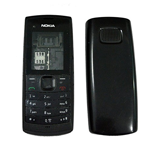 crispy Full Body Housing Back, Body Panel For Nokia X1-00- Black  available at amazon for Rs.268