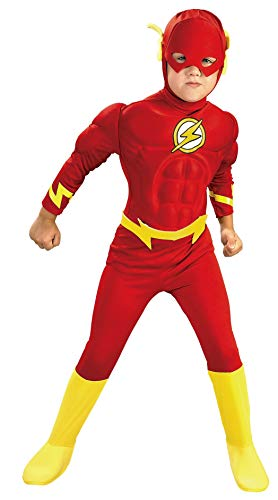 Flash- - Justice League - Kinder- Kostüm - Kleinkind - 94cm (Flash Muskel Brust Kostüm)