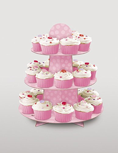 super-cool-1st-birthday-decorations-and-accessories-in-pink-blue-cup-cake-stand-pink