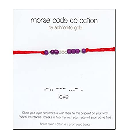 Red String Bracelet Stocking Filler Morse Code Bracelet Lucky