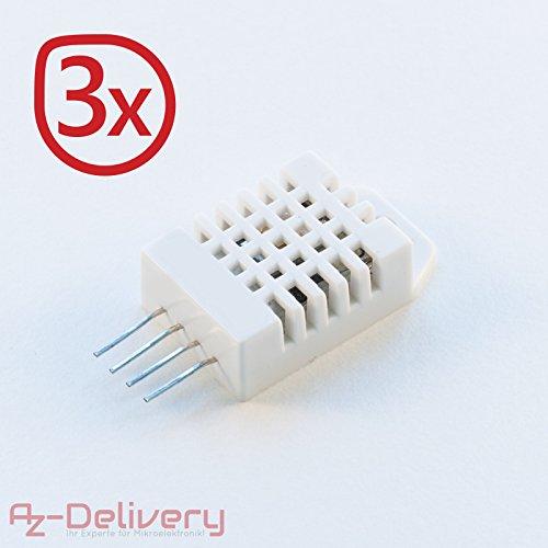 AZDelivery DHT22 / AM2302 Sensor de Temperatura y Humedad para Arduino y Raspberry Pi (3x DHT22)