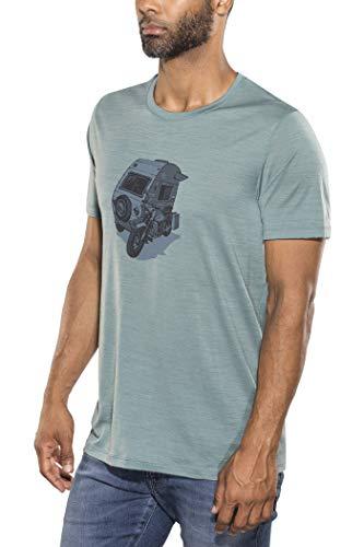 Icebreaker 150 Tech Lite Crewe Shirt Camper Men - Funktionsshirt, vapour blue, L (Blue Prints Camper)