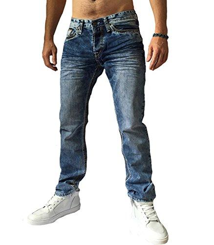 Cinc - Jeans fashion coupe droite Jeans190 bleu délavé - Bleu Bleu
