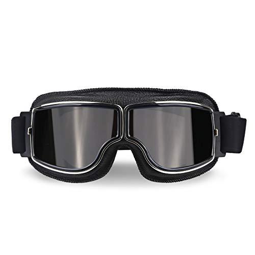 QQLCK Universal Vintage Motorradbrille Pilot Aviator Motorrad Roller Biker Brille Helm Brille Faltbare Für Harley (Color : Model 4)