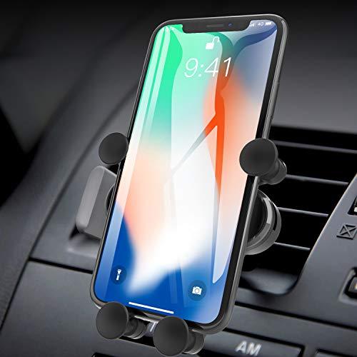 AUCHIKU Handyhalterung Auto Handyhalter fürs Auto Lüftung Autohalterung 360° Drehbar Schwerkraft KFZ Handy Halter für iPhone 11 Pro/11/XS MAX/XS/XR/X/8,Samsung Galaxy Note 10,Huawei,LG,Xiaomi,Sony usw