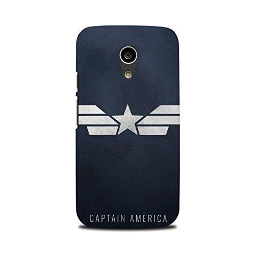 Moto G2 Designer Printed Case & Covers (Moto G2 Back Cover) - Superhero Captain America