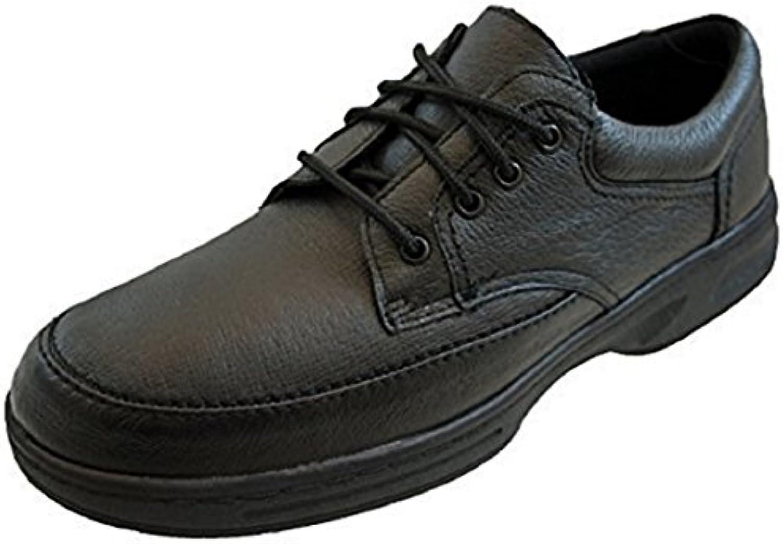 Extra anchos para hombre funda de piel ligero zapatos de tacto suave de comodidad marrón o negro By Dr Keller -