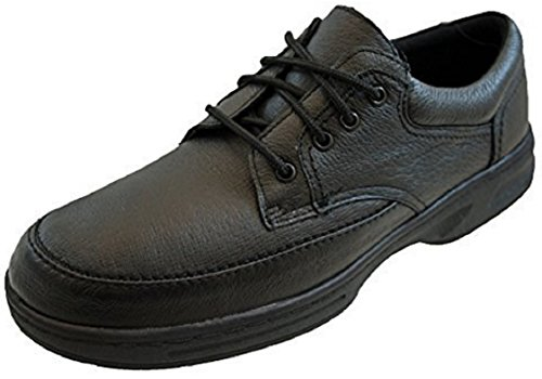 Mens Real Leather Lightweight Wide Fit Soft Comfort Shoes Black Or Brown...