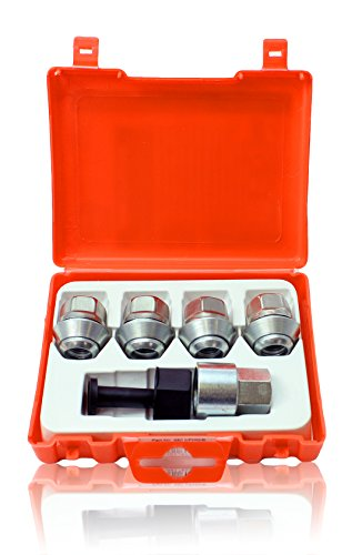 FORMON Premium wheel locking nuts M12x1,5 anti-theft bolts for alloys set of 4 removal key T2