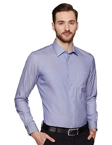 Bradstreet by Arrow Men's Checkered Slim Fit Formal Shirt (BFXSH089_blue42)