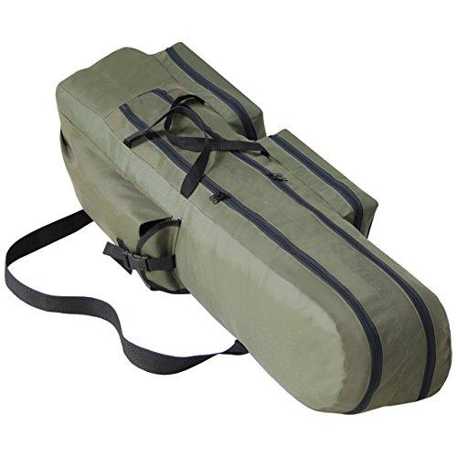XXL Rutentasche Angeltasche Angelkoffer 2 Fächer 140cm Rute Tasche Angel NEU