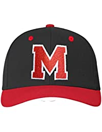 4sold ABC Letter and 23 Numbers Snapback Cap in Red black / White with letters A to Z