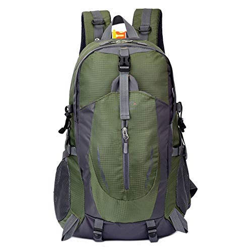 Outdoor-Sport-Rucksack, 40L Männer und Frauen Reisen Rucksack wasserdicht Reiten Rucksack mit großer Kapazität (Farbe : Green, Size : 32x18x52cm)