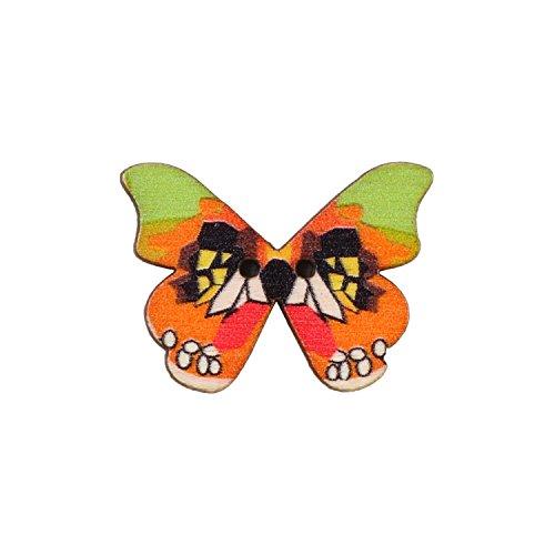 Eerafashionicing Butterfly Wood Buttons for Women's Kurtis